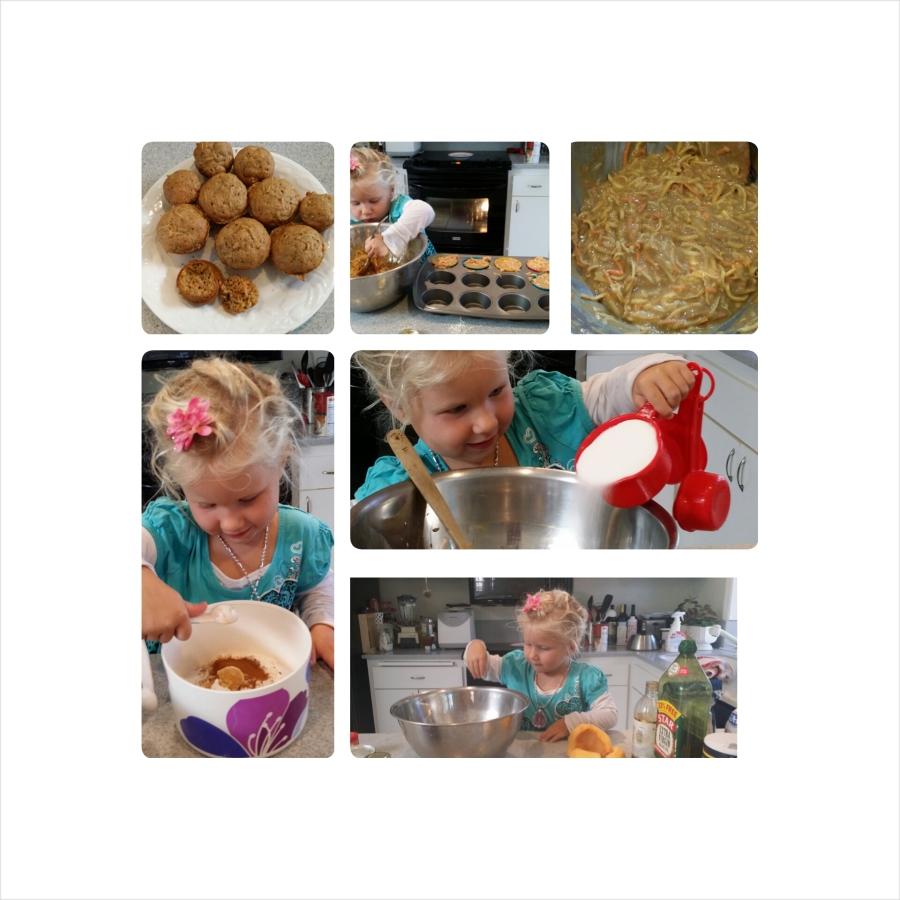 Pumpkin cooking project with kids, Fresh PumpkinMuffins