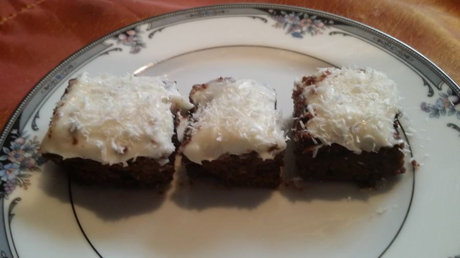 Gluten Free Coconut Chocolate Banana Cake with Cream Cheese Frosting